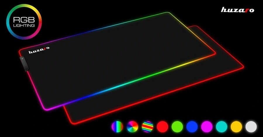 Podkładka Gamingowa Pod Mysz Duża Rgb Led Huzaro - 3