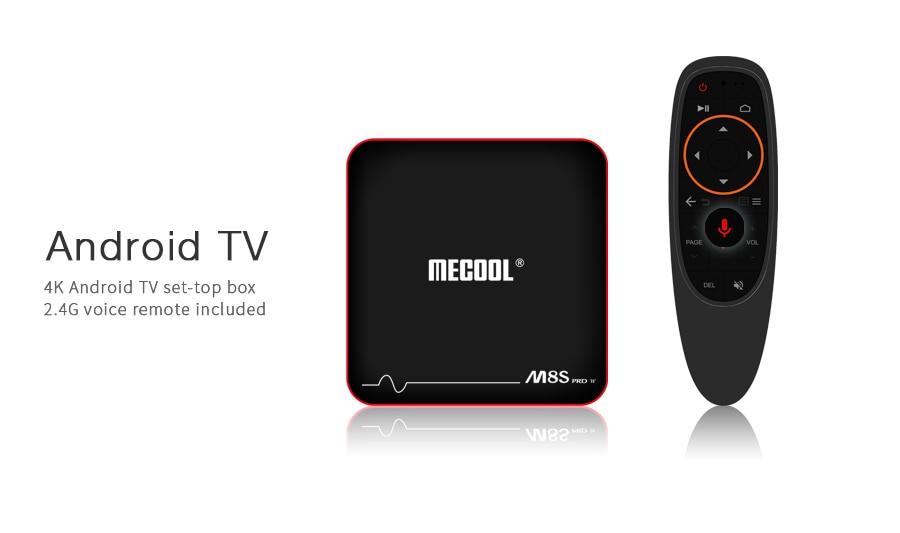 Mecool M8S PRO W TV Box - 2.4G, 2GB RAM, 16GB ROM, Android, MAG625X 4K VP9 - Ordinary RC,AU Plug - 6
