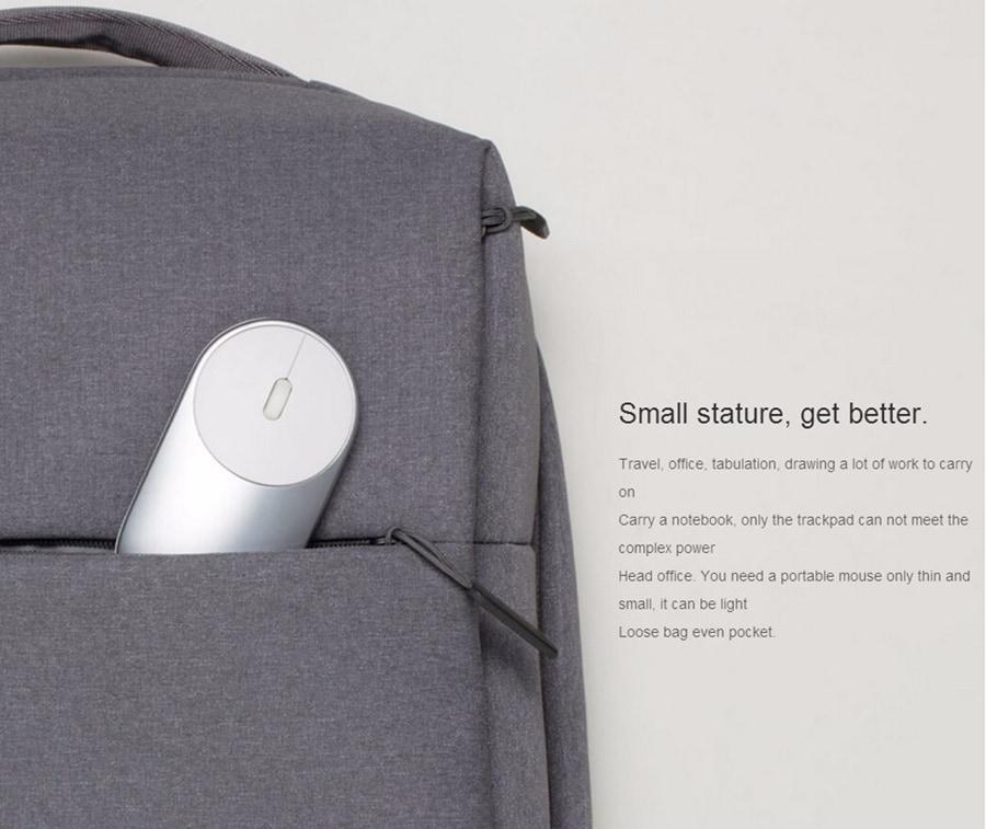 Original Xiaomi Mi Wireless Mouse Portable Game Mouses Aluminium Alloy ABS Material 2. 4 G WiFi Bluetooth 4. 0 Pink - 5