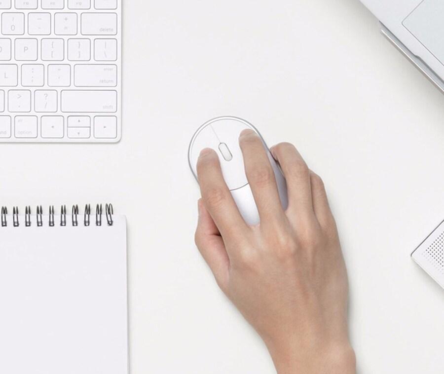 Original Xiaomi Mi Wireless Mouse Portable Game Mouses Aluminium Alloy ABS Material 2. 4 G WiFi Bluetooth 4. 0 Pink - 3