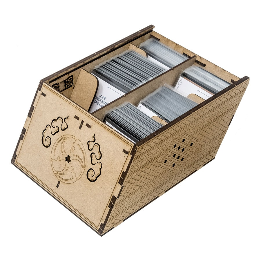 Deck holder (500 standard size sleeved cards) Cherry - 7