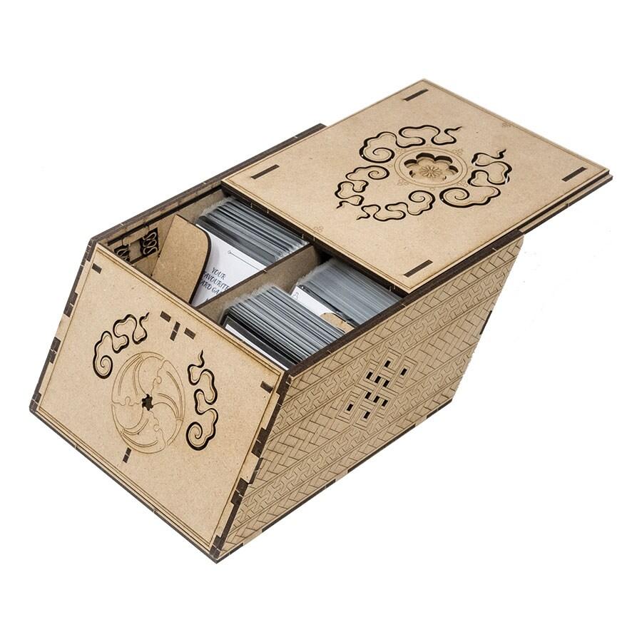 Deck holder (500 standard size sleeved cards) Cherry - 1