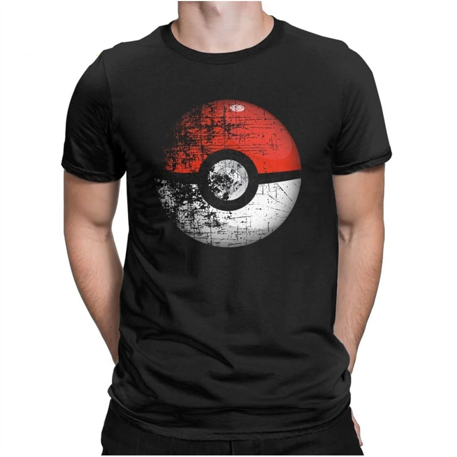Destroyed Pokemon Go Team Red Pokeball Leisure T Shirts Man Short Sleeved Tops New Tees Purified Cotton - 1