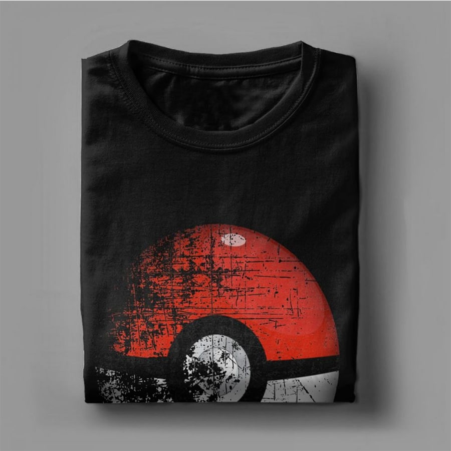 Destroyed Pokemon Go Team Red Pokeball Leisure T Shirts Man Short Sleeved Tops New Tees Purified Cotton - 3