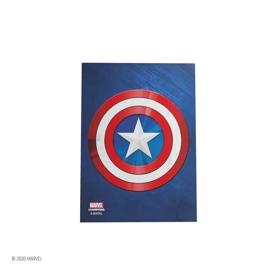 Gamegenic: Marvel Champions Art Sleeves (66 mm x 91 mm) Captain America 50+1 szt. - 1