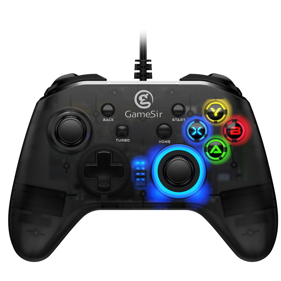 Gaming Controller with Vibration and Turbo Joystick Function for PC/Laptop Black - 1