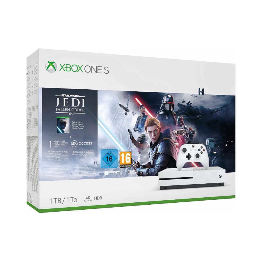 Microsoft Xbox One S 1TB + StarWars Jedi: Fallen Order - White - 1