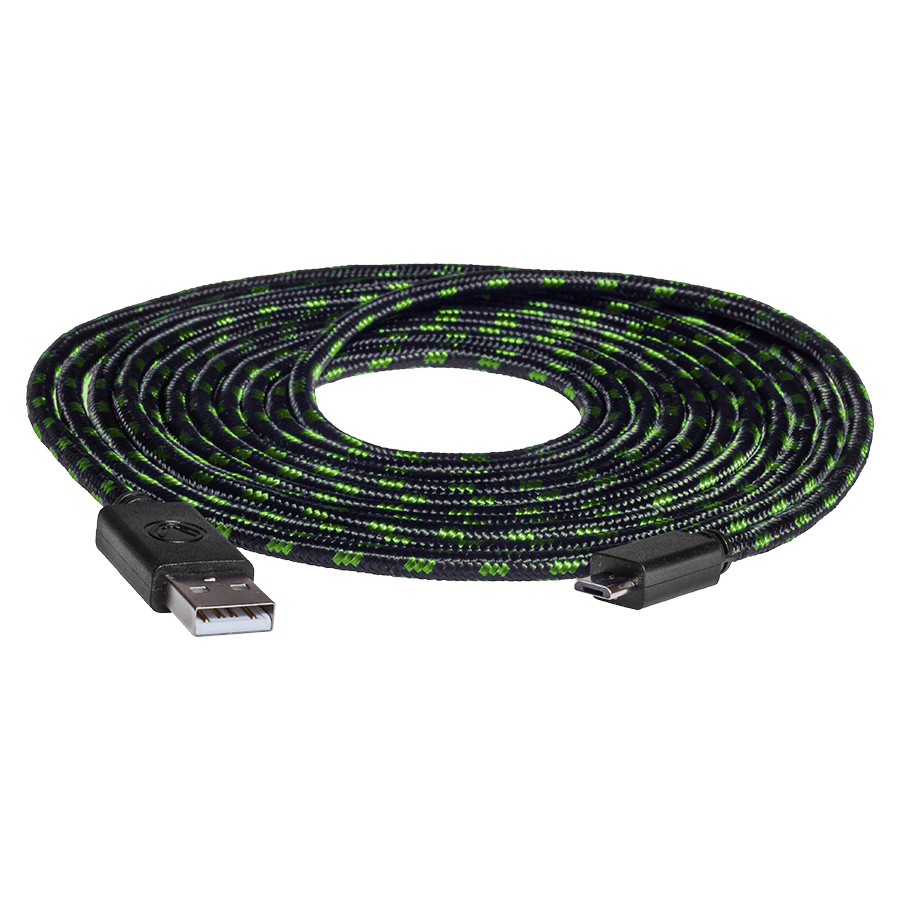 snakebyte USB CHARGE:CABLE Pro™ (4m) Xbox USB - microUSB mesh - 1