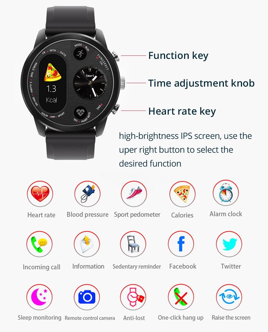 Black Waterproof Smartwatch Sport Smart Watch with Fitness Activity Tracker IP68 - 4