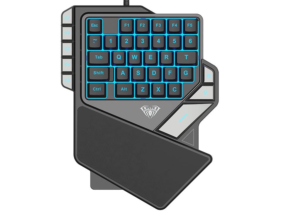 AULA One-Handed Mini Gaming Keyboard Backlight 27 keys Anti-Ghosting - 2