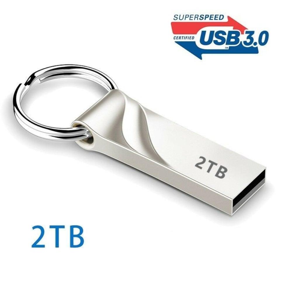 Memory USB Stick U - 3.0 Flash Drives Metal Keychain 2TB - 1