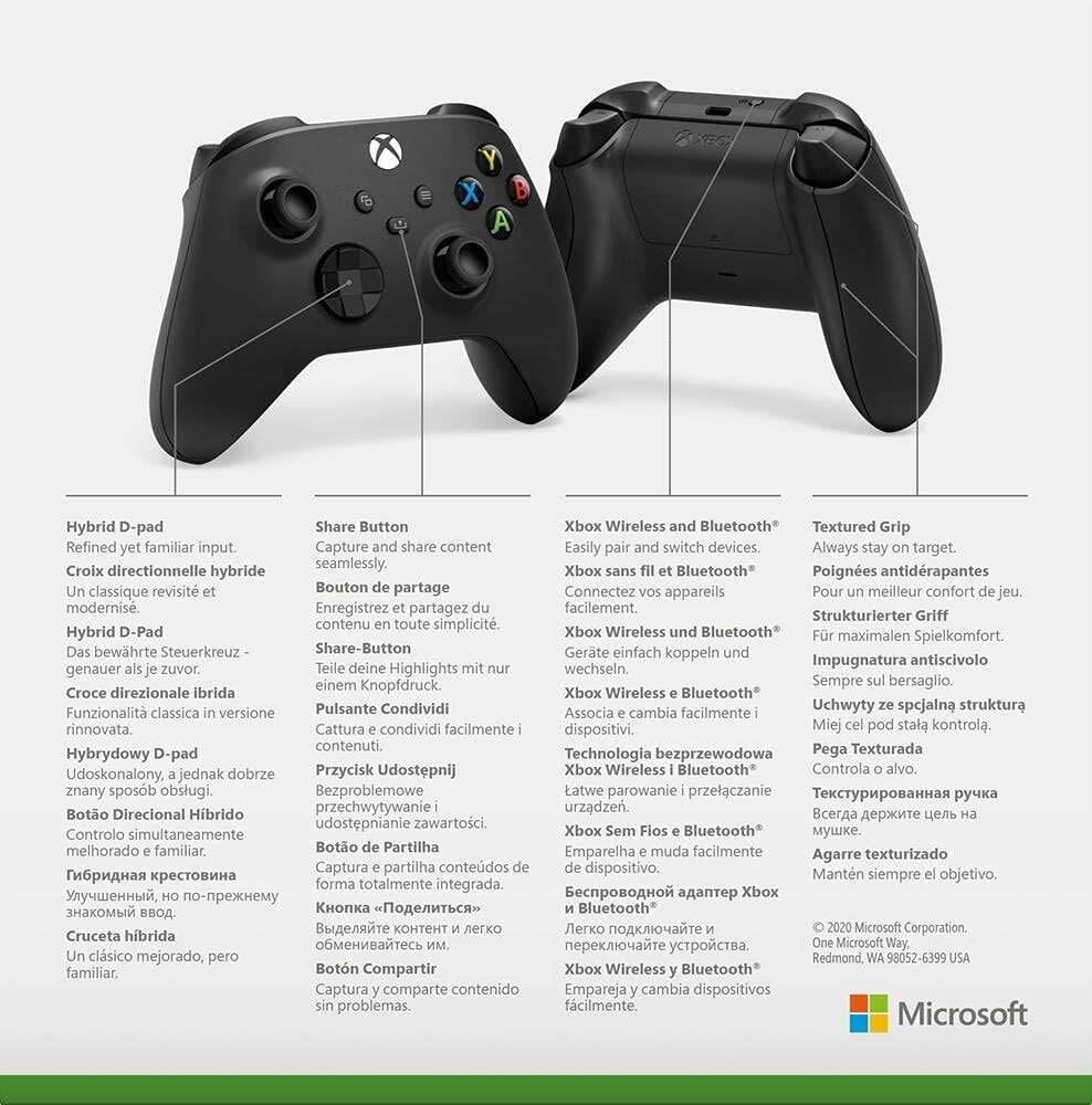Microsoft Official Xbox Series X/S Wireless Controller - Carbon Black Xbox Series X/S Black - 9