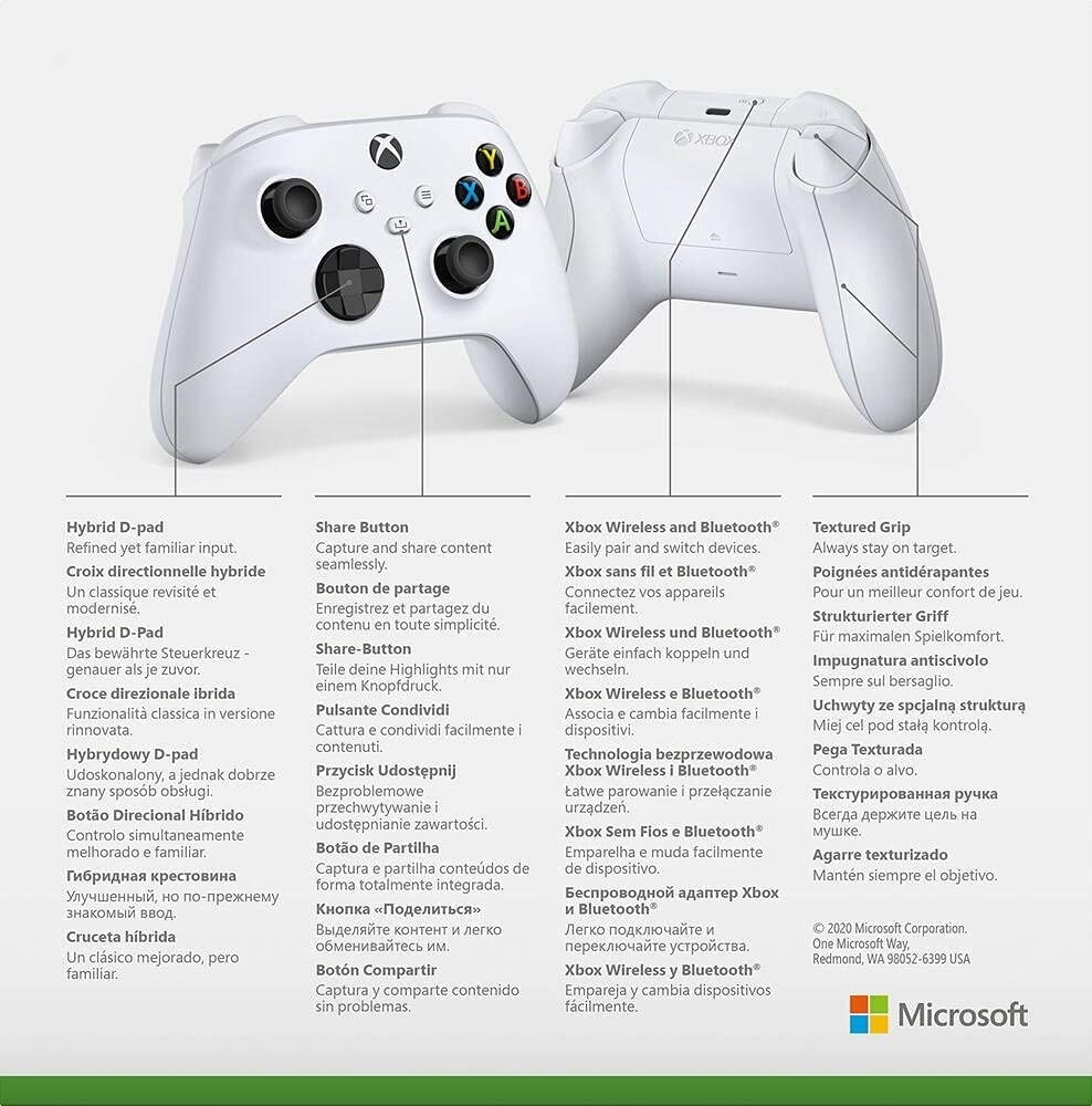 Microsoft Official Xbox Series X/S Wireless Controller - Robot White (Xbox Series X/S) White - 5