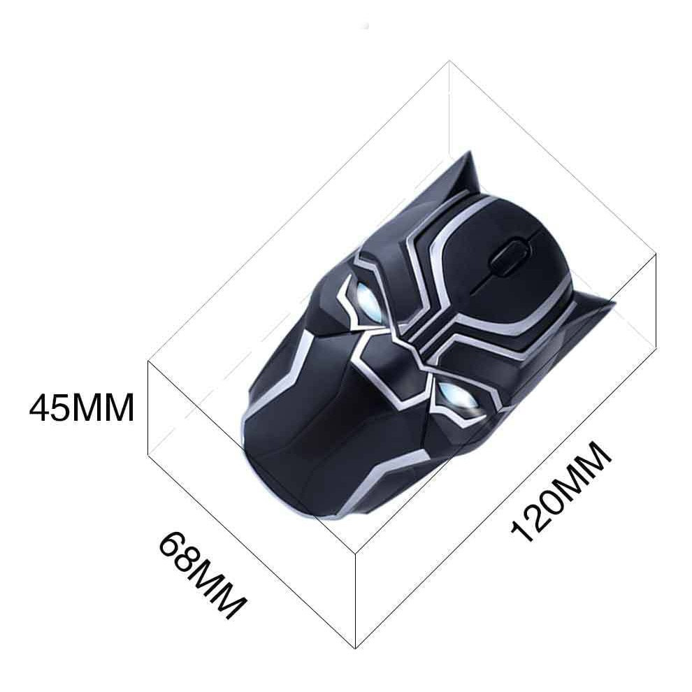 Original Marvel 2.4G Wireless Gaming Mouse Mice 1200DPI Black Panther - 4