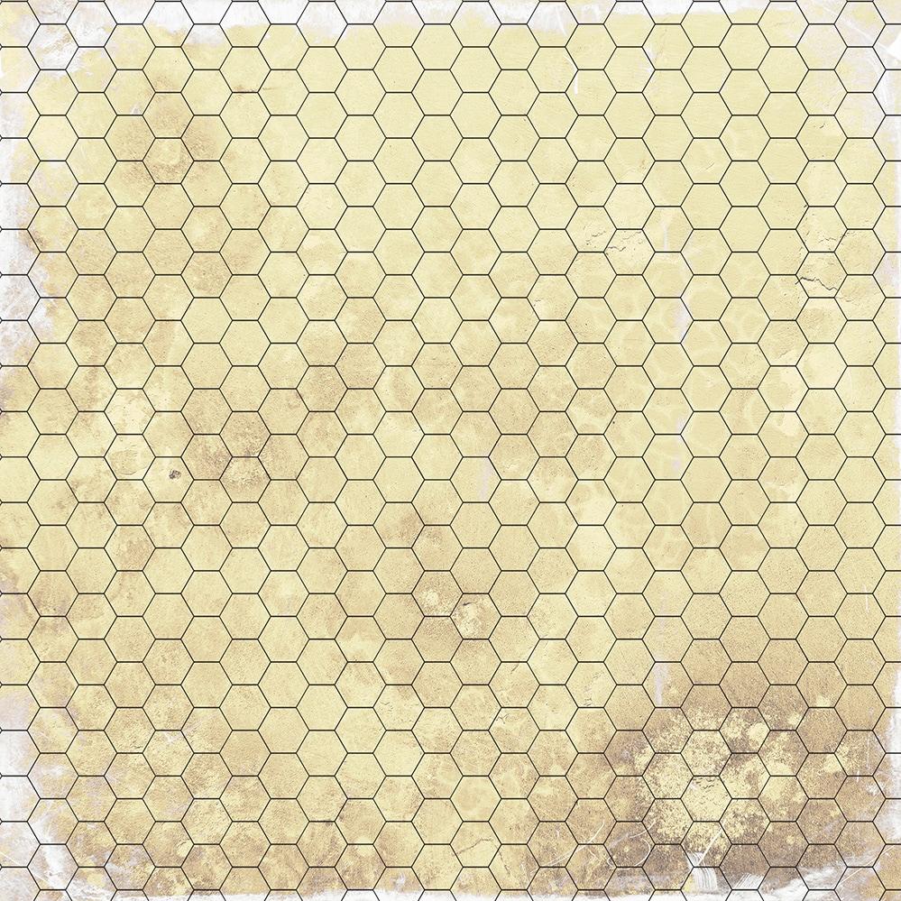 Dry-erase RPG mat 50x50 - Papyrus 1 (hexagonal) - 1