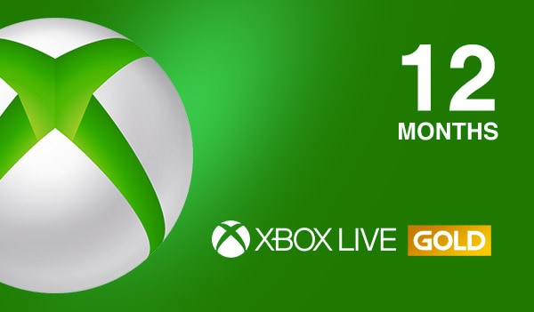 Xbox Live Gold 12 month