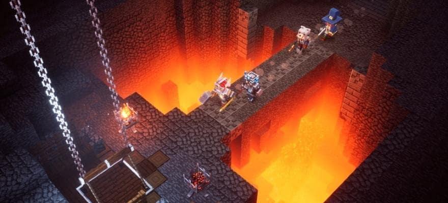 Minecraft Dungeons game graphics