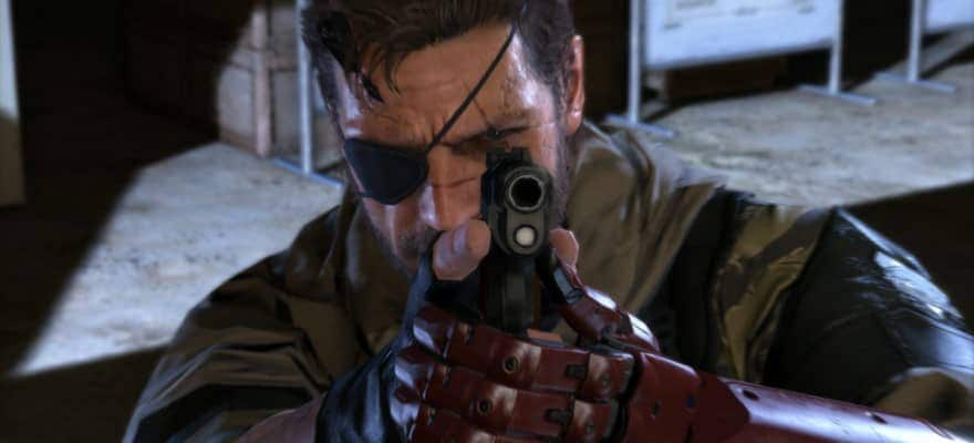 Solid Snake with a gun