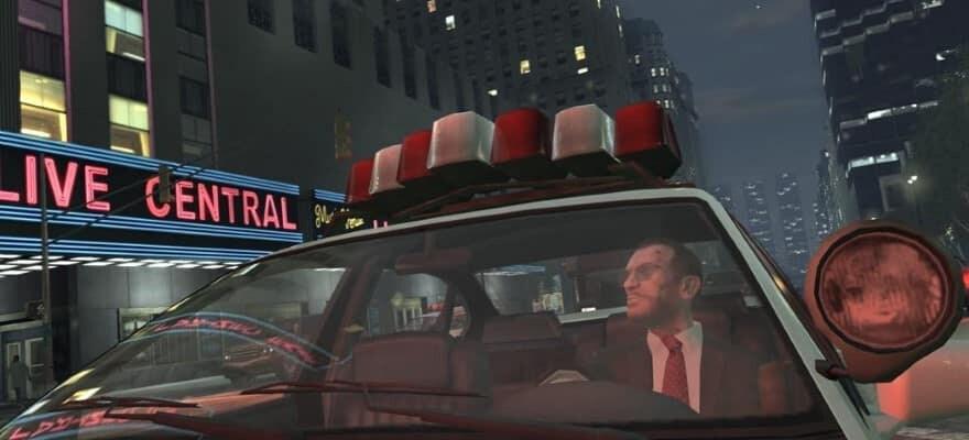 Nico Bellic in police car