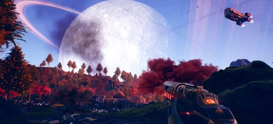 The Outer Worlds - player in planet