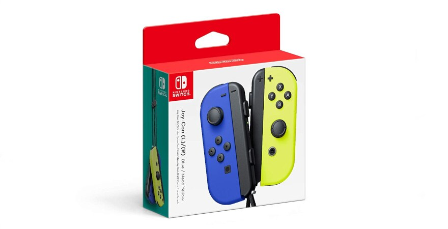 Nintendo Switch Joy-Con Wireless Controller - Neon Blue / Neon Yellow