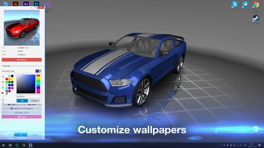 Wallpaper Engine - customizing