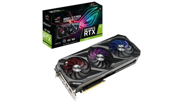 ASUS GeForce RTX 3060 Ti 8 GB ROG Strix GAMING V2 LHR Graphics Card