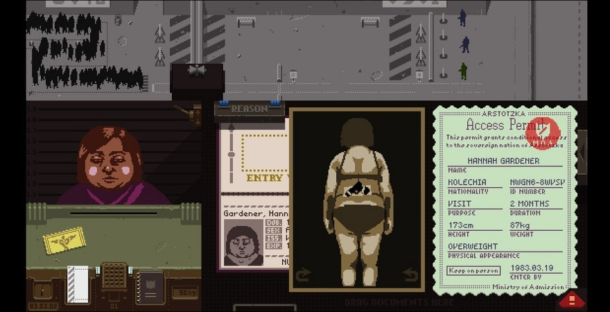 Papers, Please - inspector