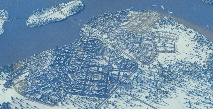 Cities: Skylines Snowfall