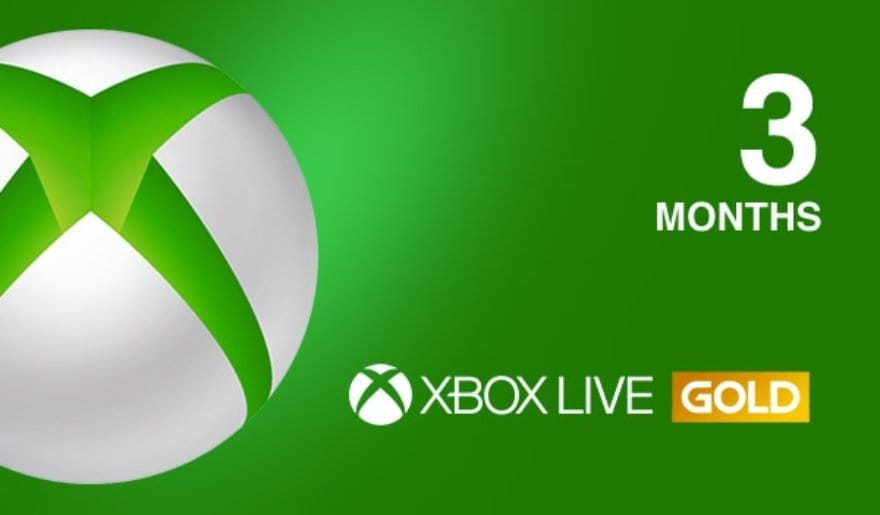 Xbox Live GOLD Subscription Card 3 months